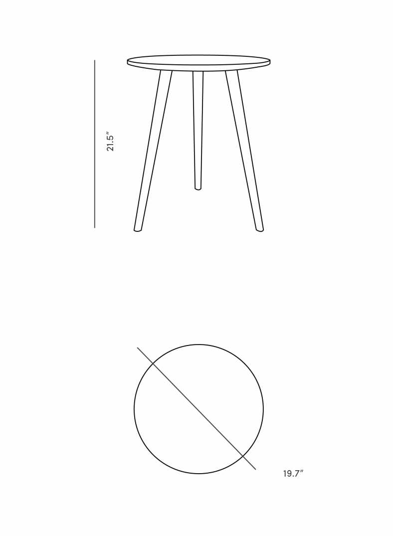 Dimensions for Jens End Table