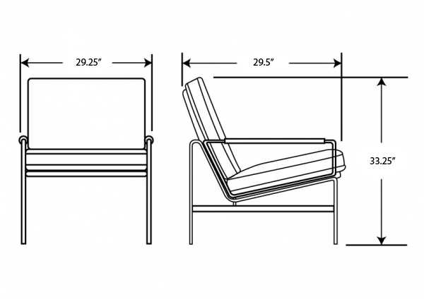 Dimensions for FK 6720 Easy Chair