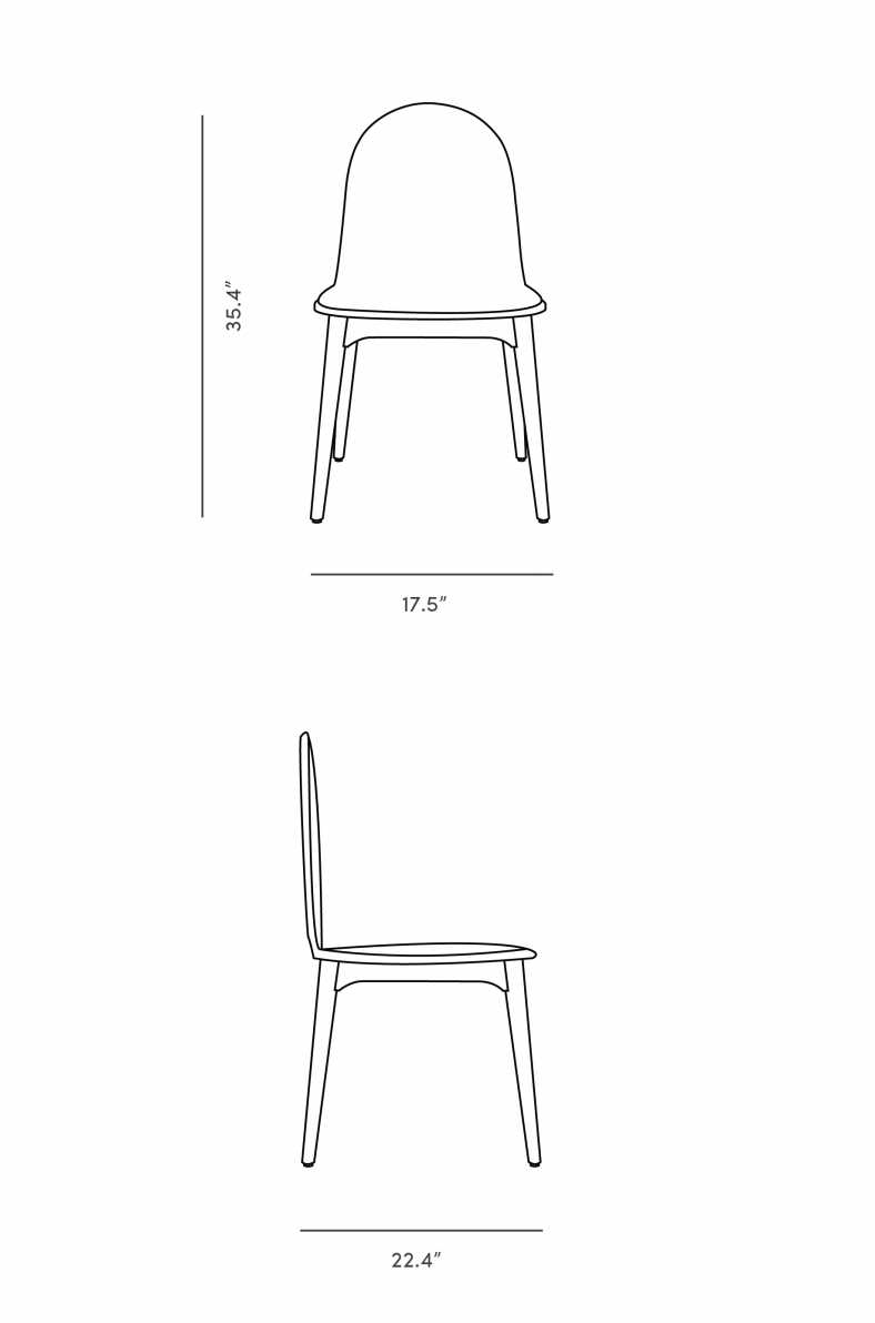 Dimensions for Jesper Dining Chair