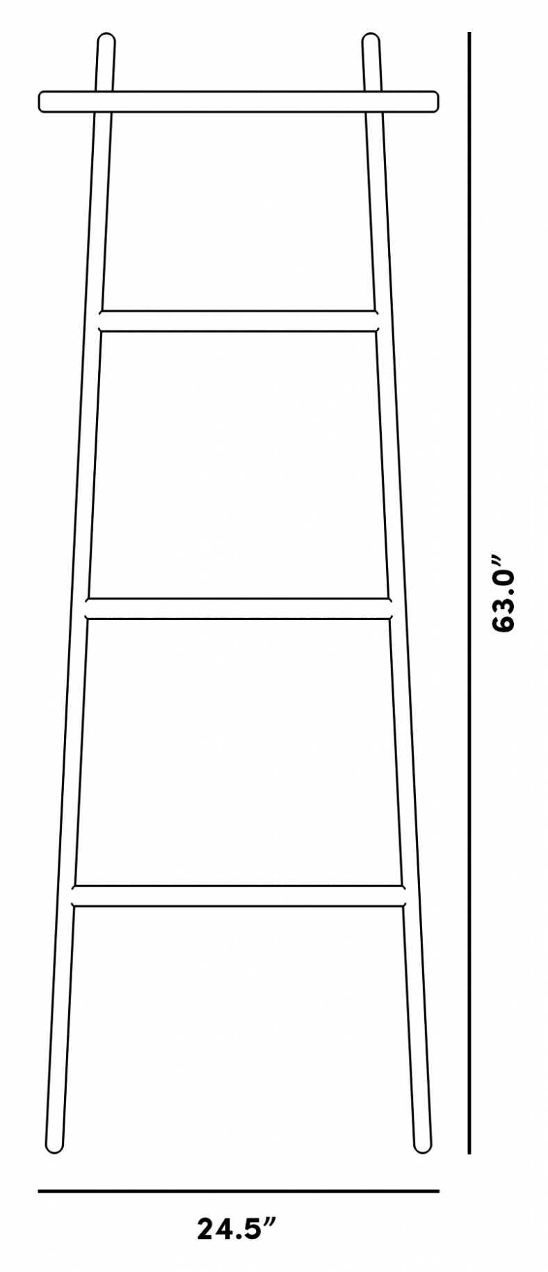 Dimensions for Jette Ladder Shelf