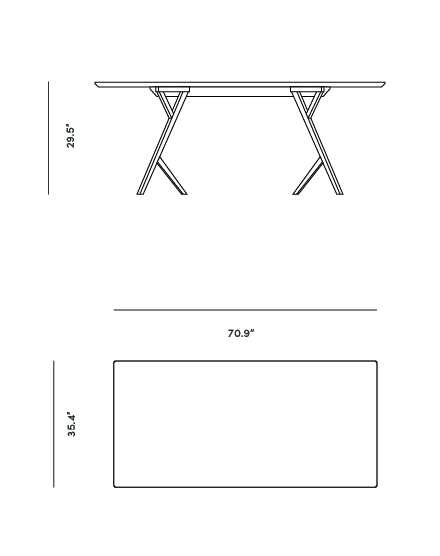 Dimensions for Jonas Dining Table