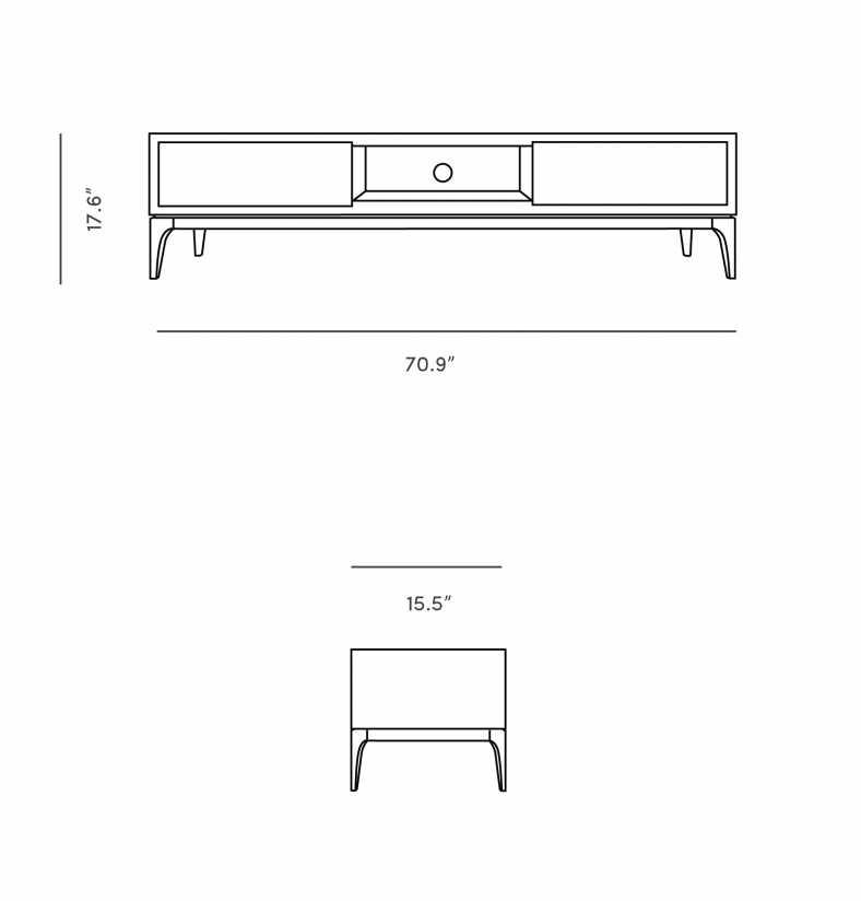 Dimensions for Joren TV Stand