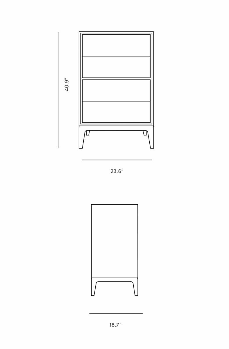 Dimensions for Joren Dresser