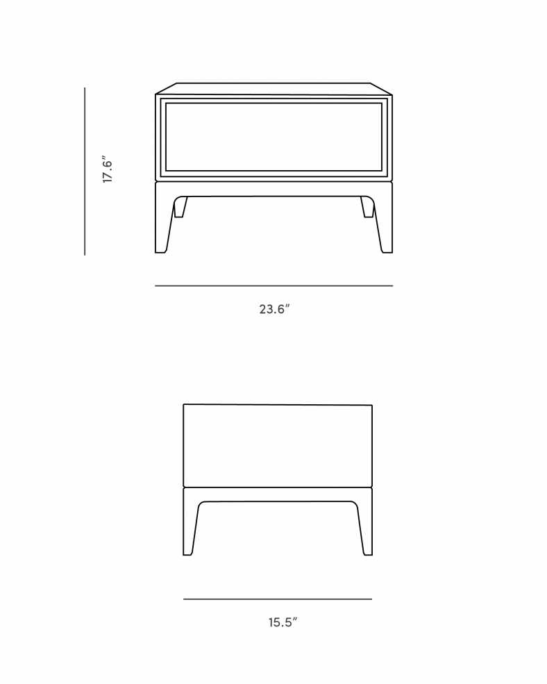 Dimensions for Joren Nightstand