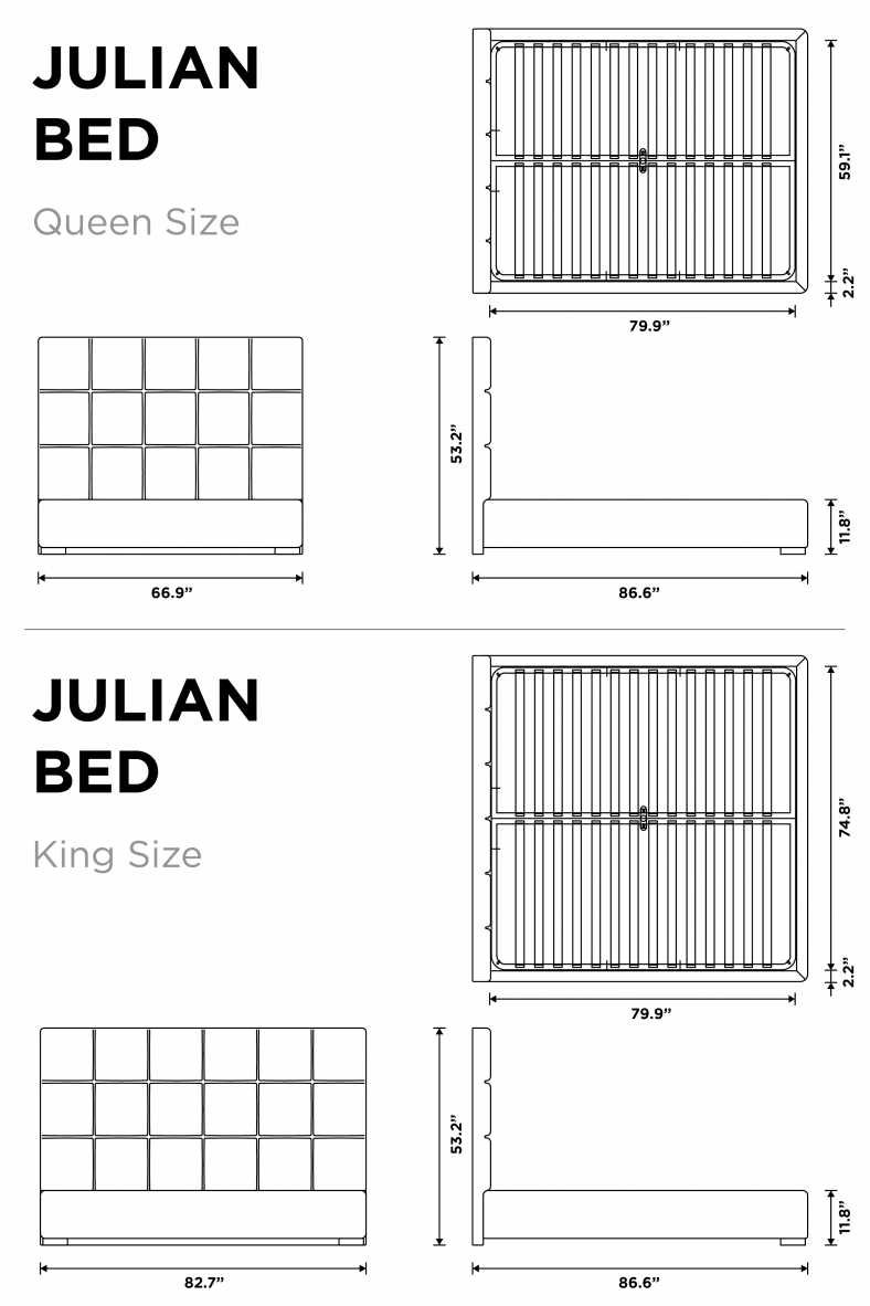 Dimensions for Julian Bed