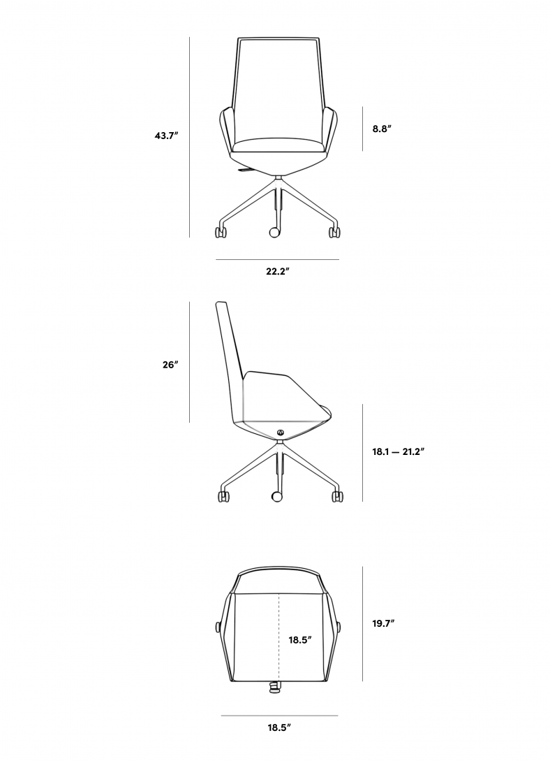 Dimensions for Julian Office Chair