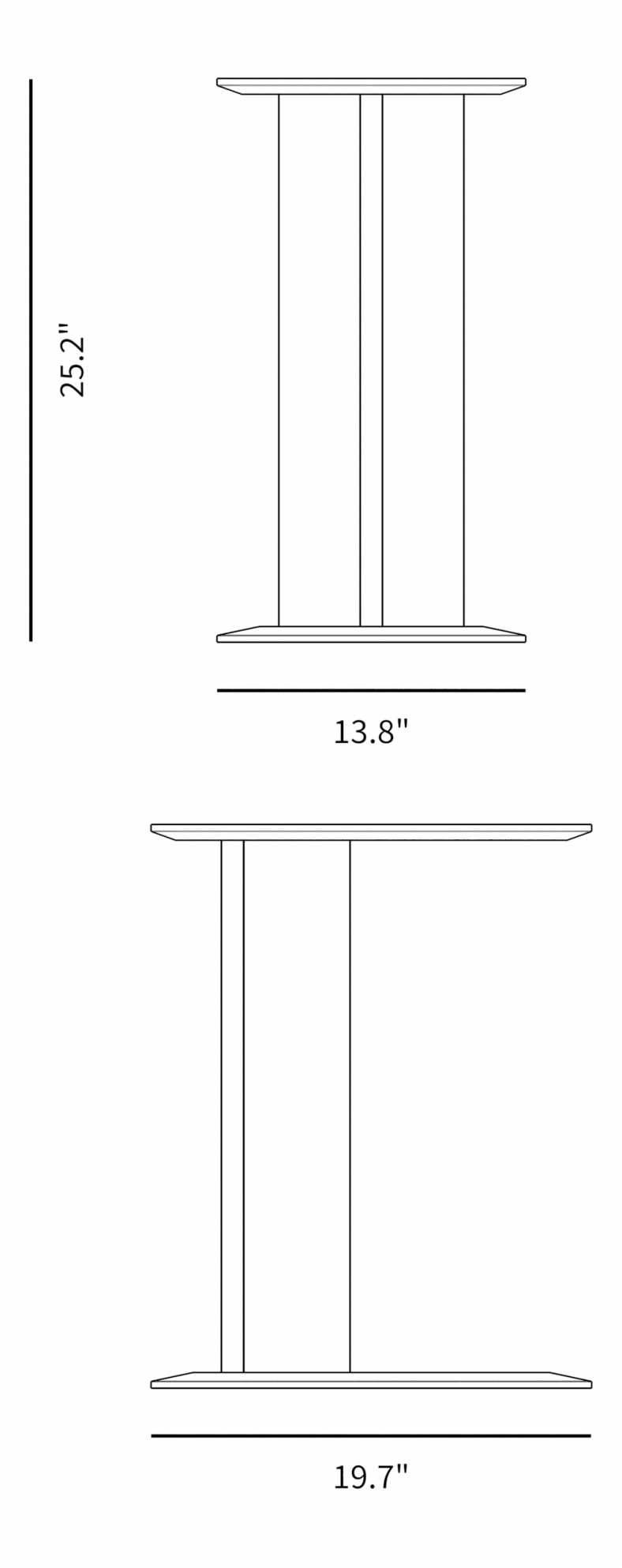 Dimensions for Jutka Side Table
