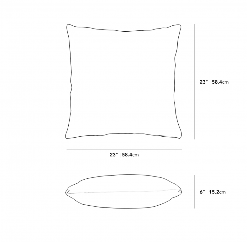 Dimensions for Large Throw Pillow