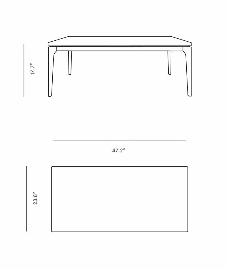 Dimensions for Lars Coffee Table