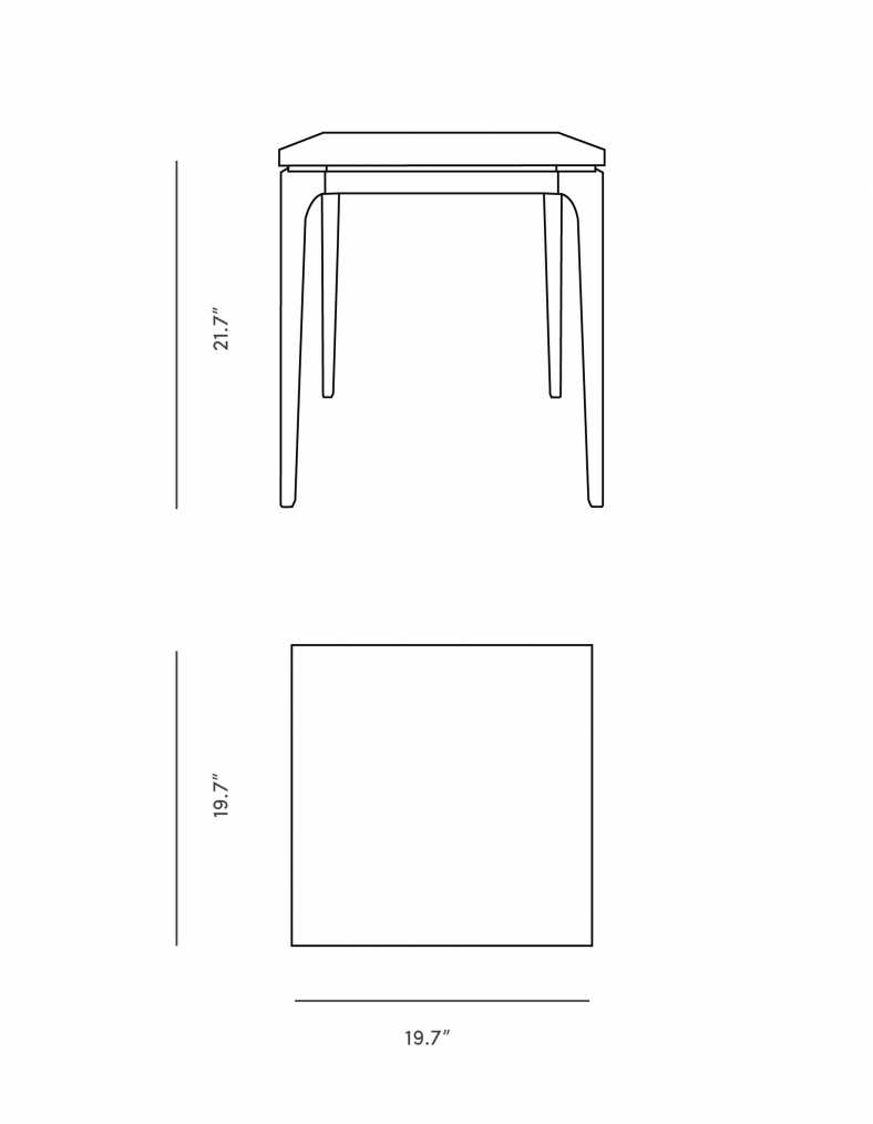 Dimensions for Lars Side Table