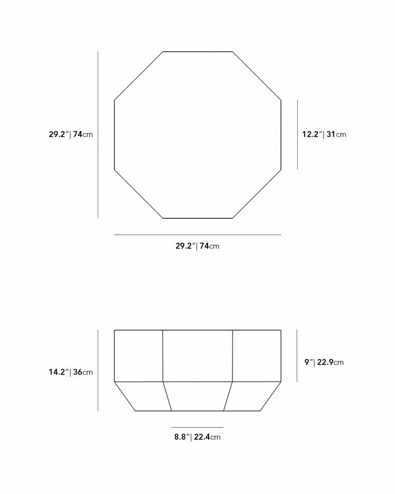 Dimensions for Leia Outdoor Coffee Table