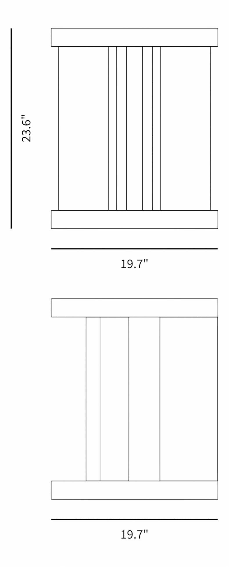 Dimensions for Leif Side Table