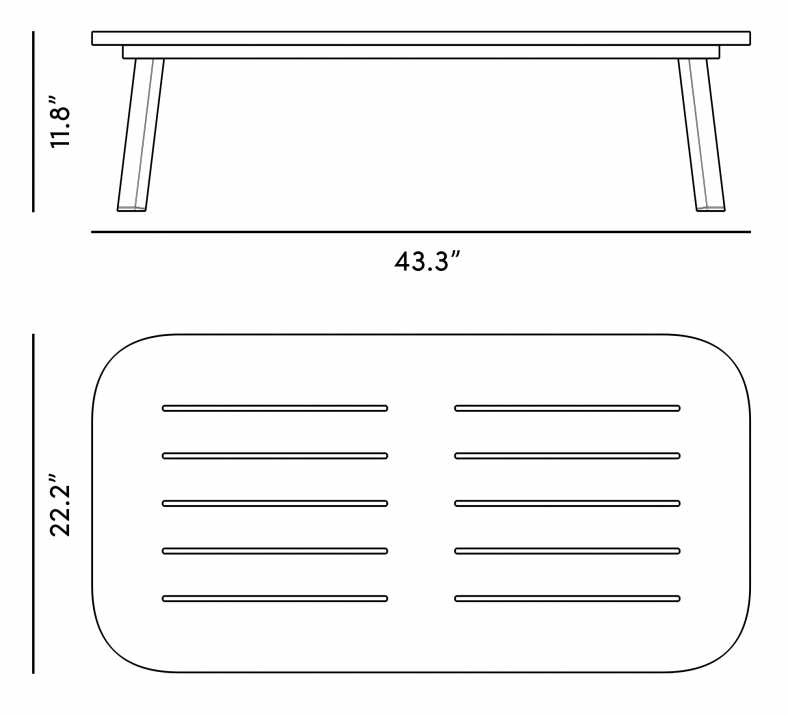Dimensions for Linnea Coffee Table