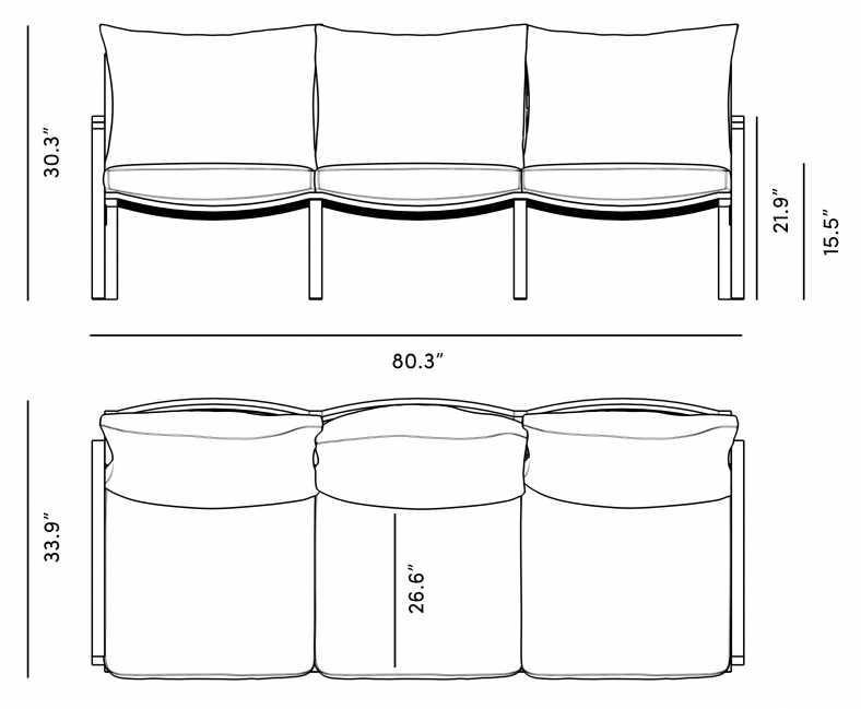 Dimensions for Linnea Sofa