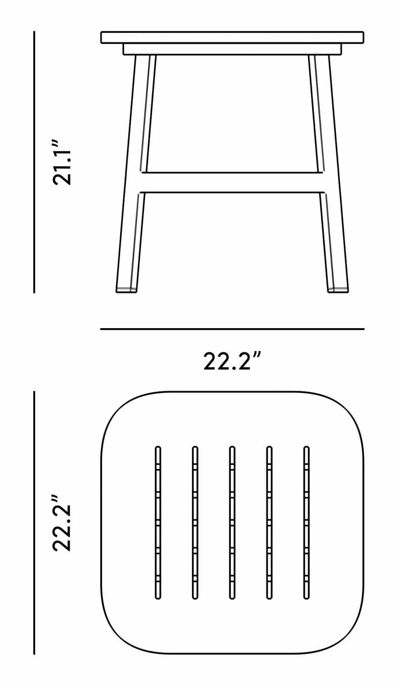 Dimensions for Linnea Outdoor Side Table