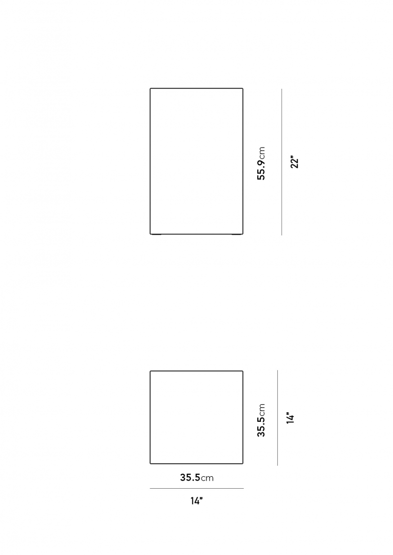 Dimensions for Liza Side Table