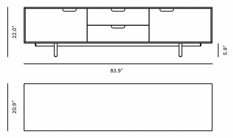 Dimensions for Logan TV Stand
