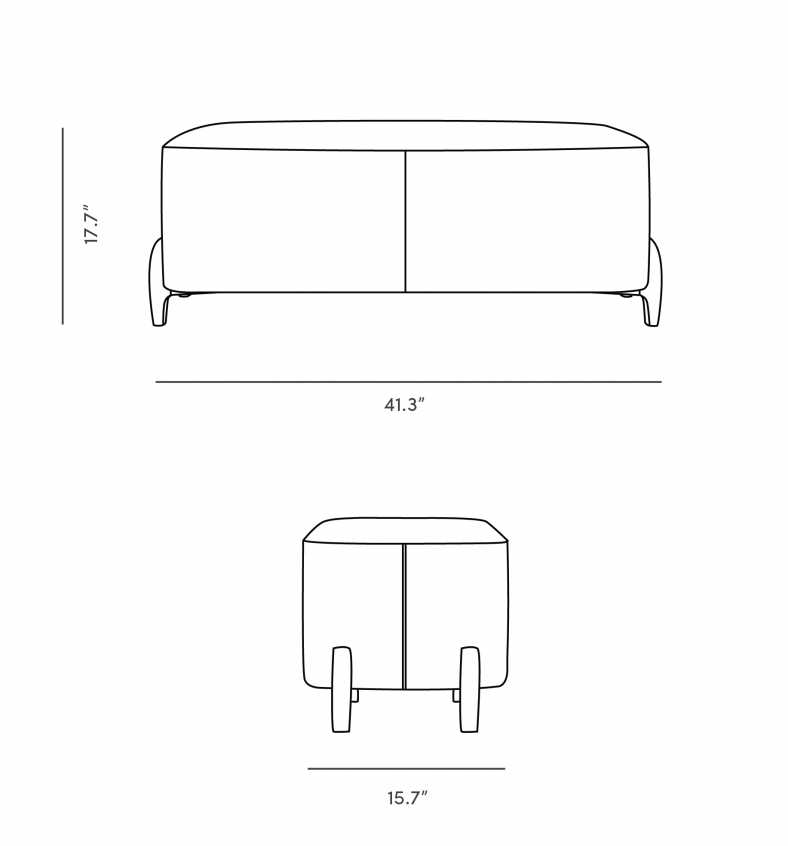 Dimensions for Lotte Bench