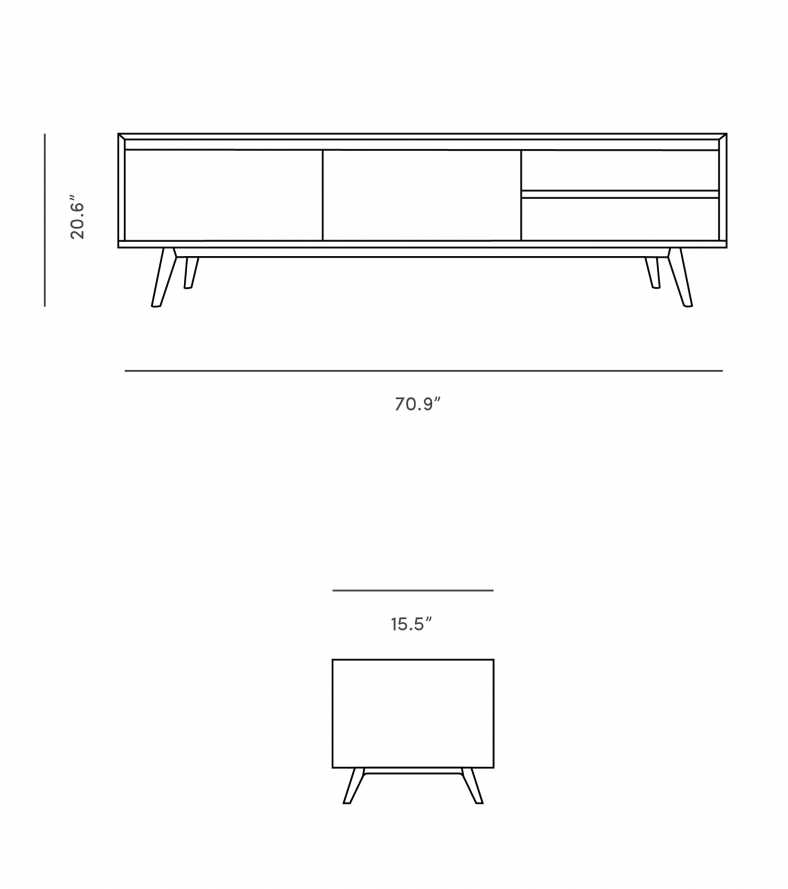 Dimensions for Lucas TV Stand