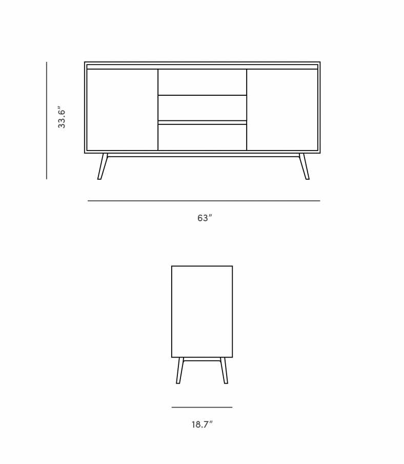Dimensions for Lucas Sideboard