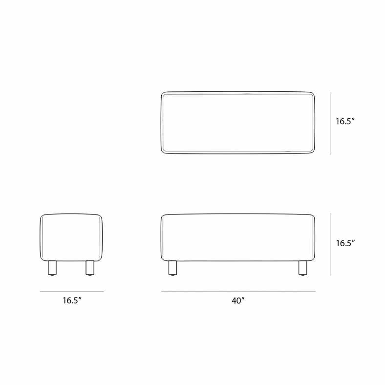 Dimensions for Luna Bench