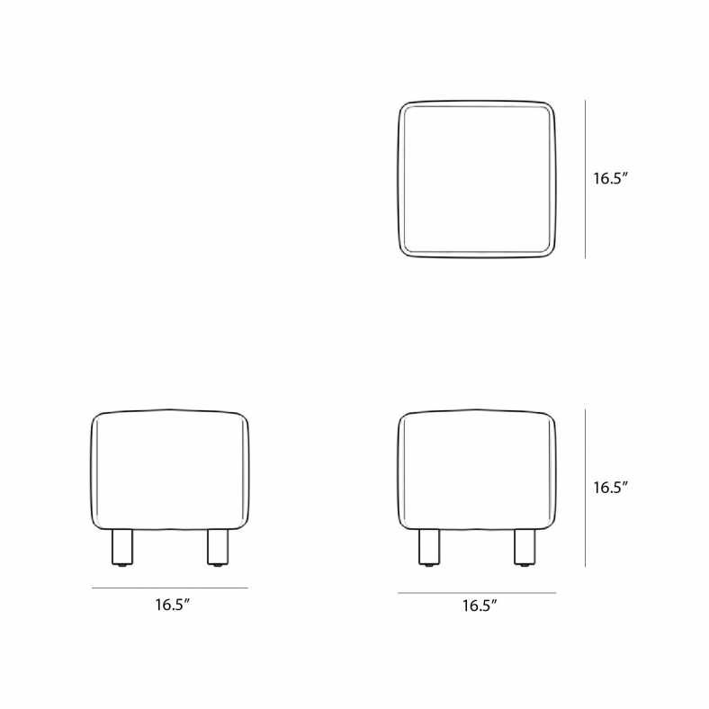 Dimensions for Luna Stool