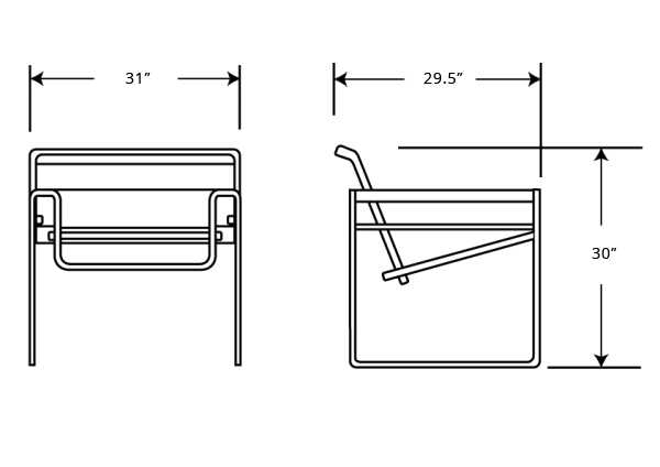 Dimensions for Wassily Chair