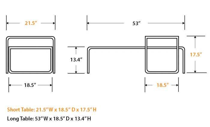laccio table | marcel breuer | designer coffee table