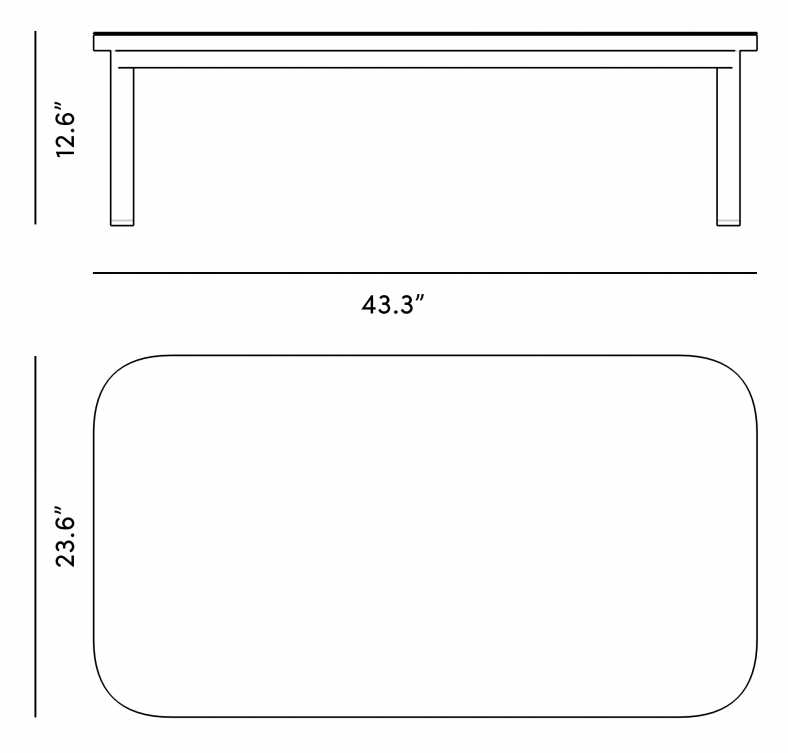 Dimensions for Maja Coffee Table
