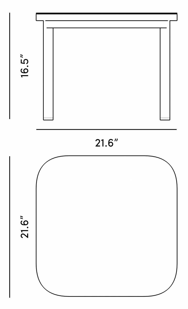 Dimensions for Maja Side Table