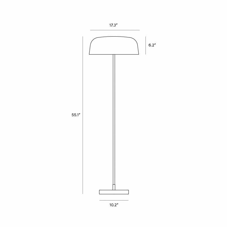 Dimensions for Maria Lamp