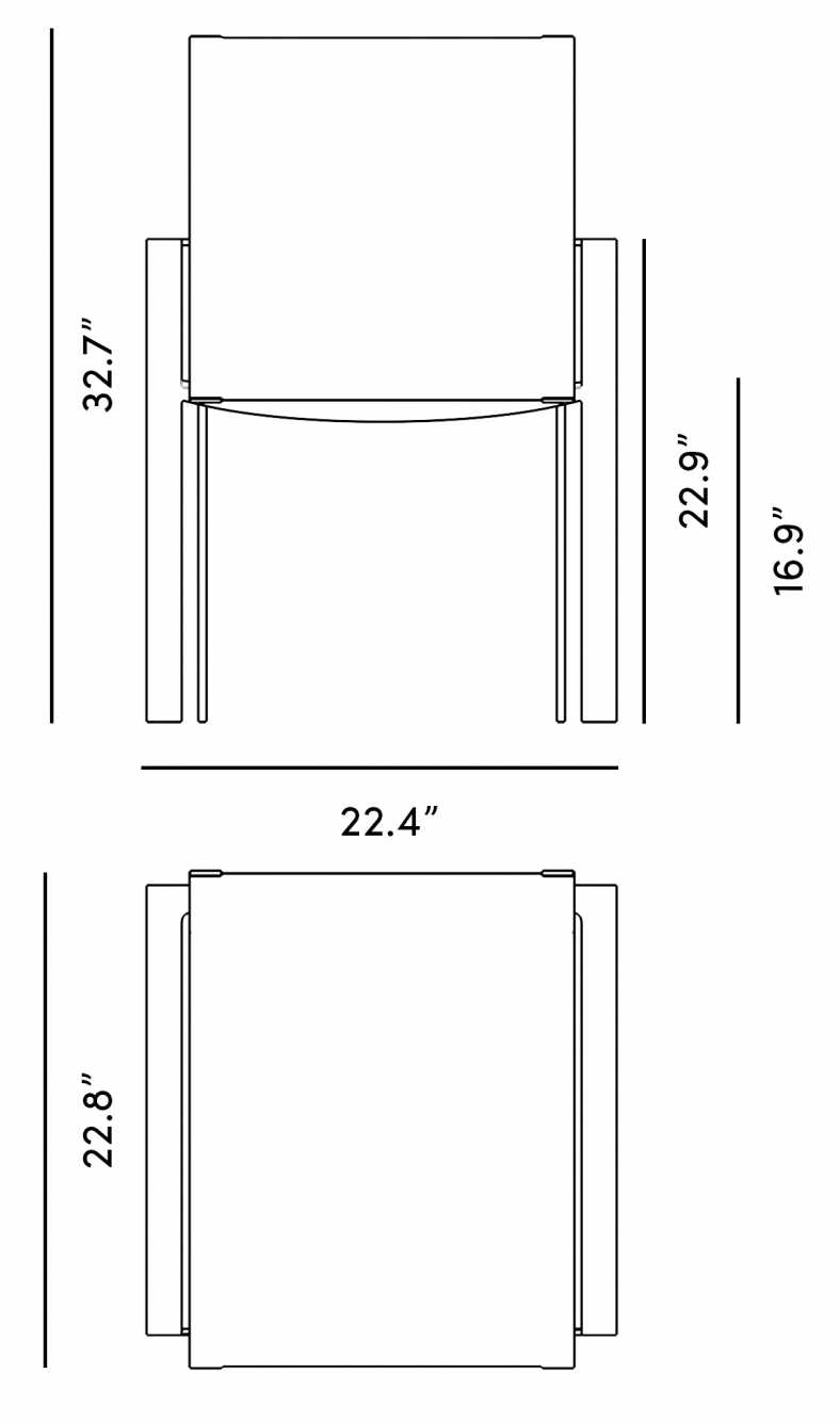 Dimensions for Matias Dining Chair - Set of 4