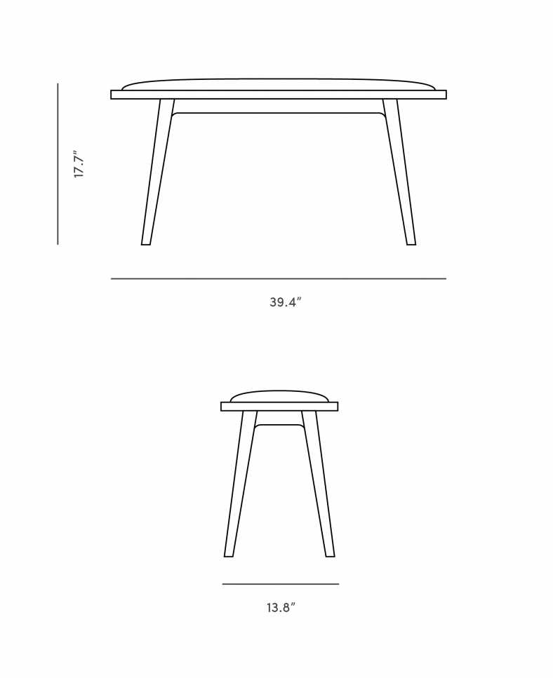 Dimensions for Matti Bench