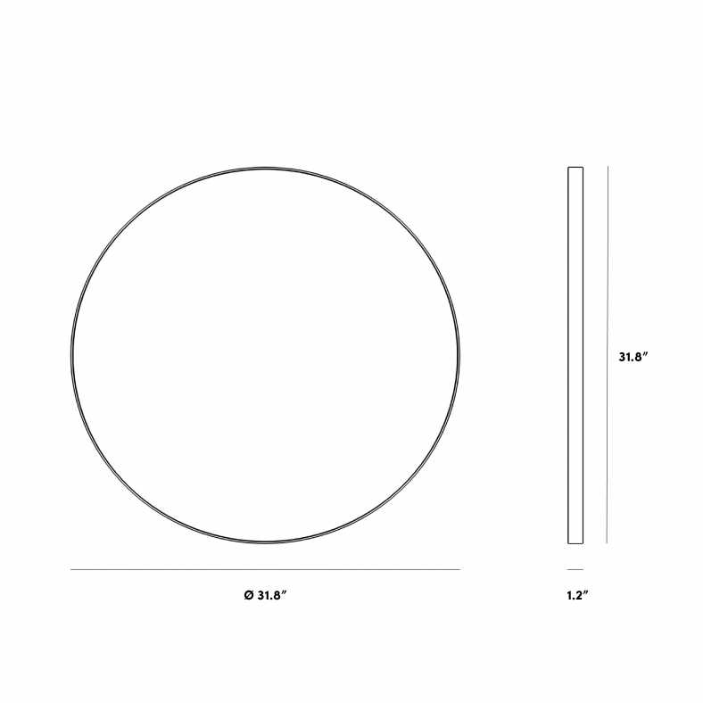 Dimensions for Mila Mirror