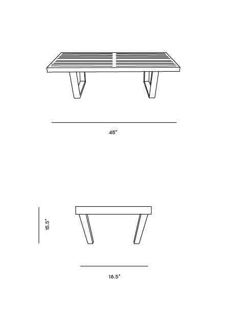 Dimensions for Platform Bench