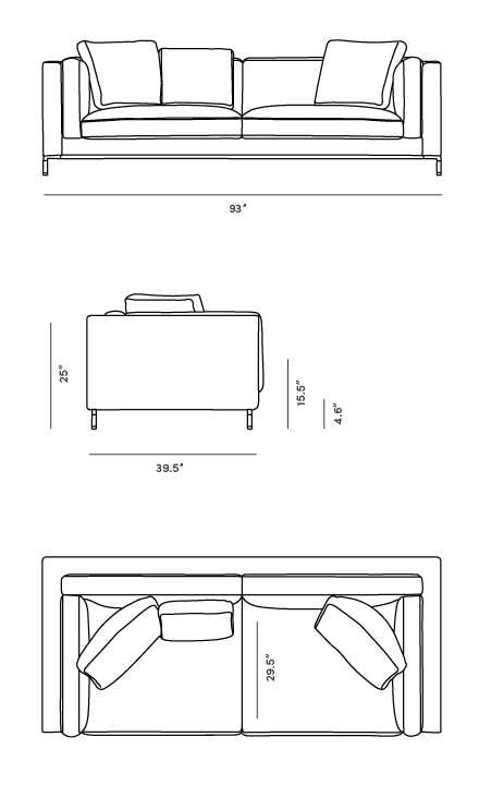 Dimensions for Nico Sofa