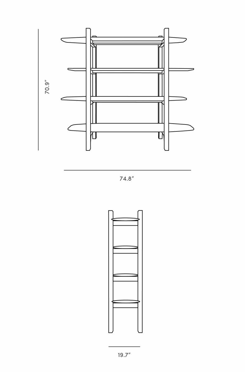 Dimensions for Niels Bookshelf