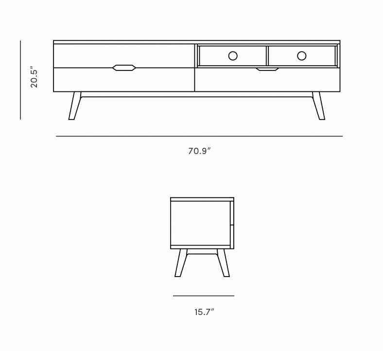 Dimensions for Nilsson TV Stand