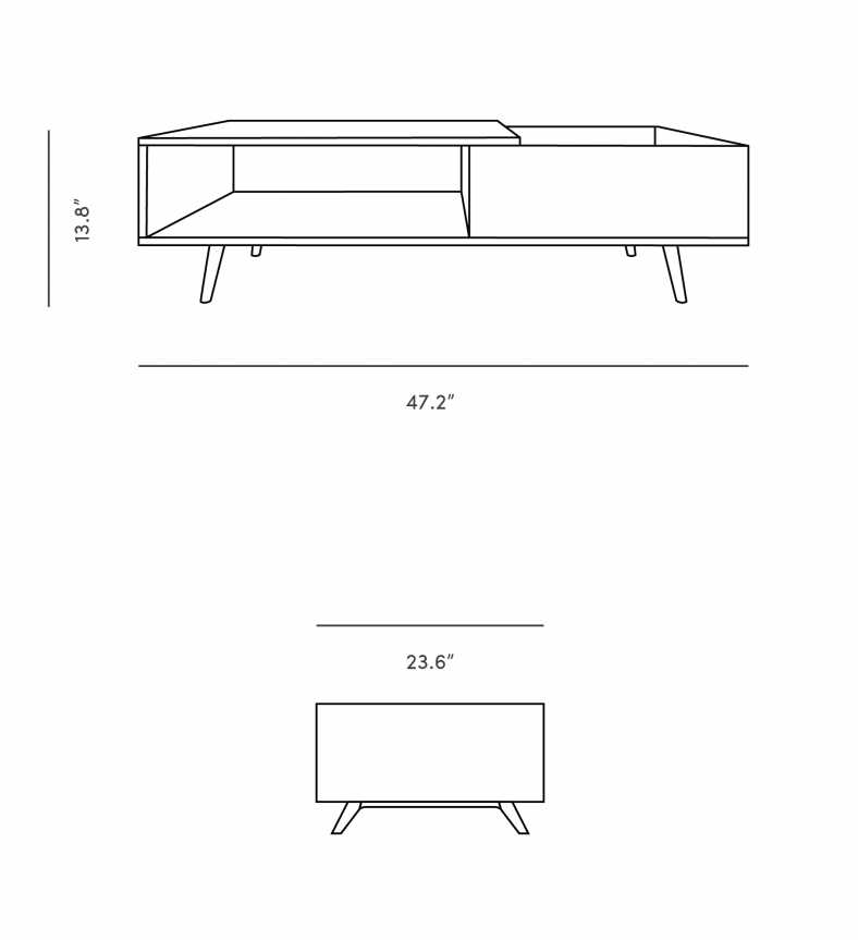 Dimensions for Nilsson Coffee Table