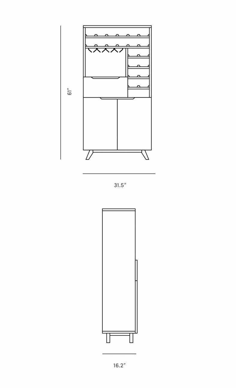 Dimensions for Nilsson Wine Shelf