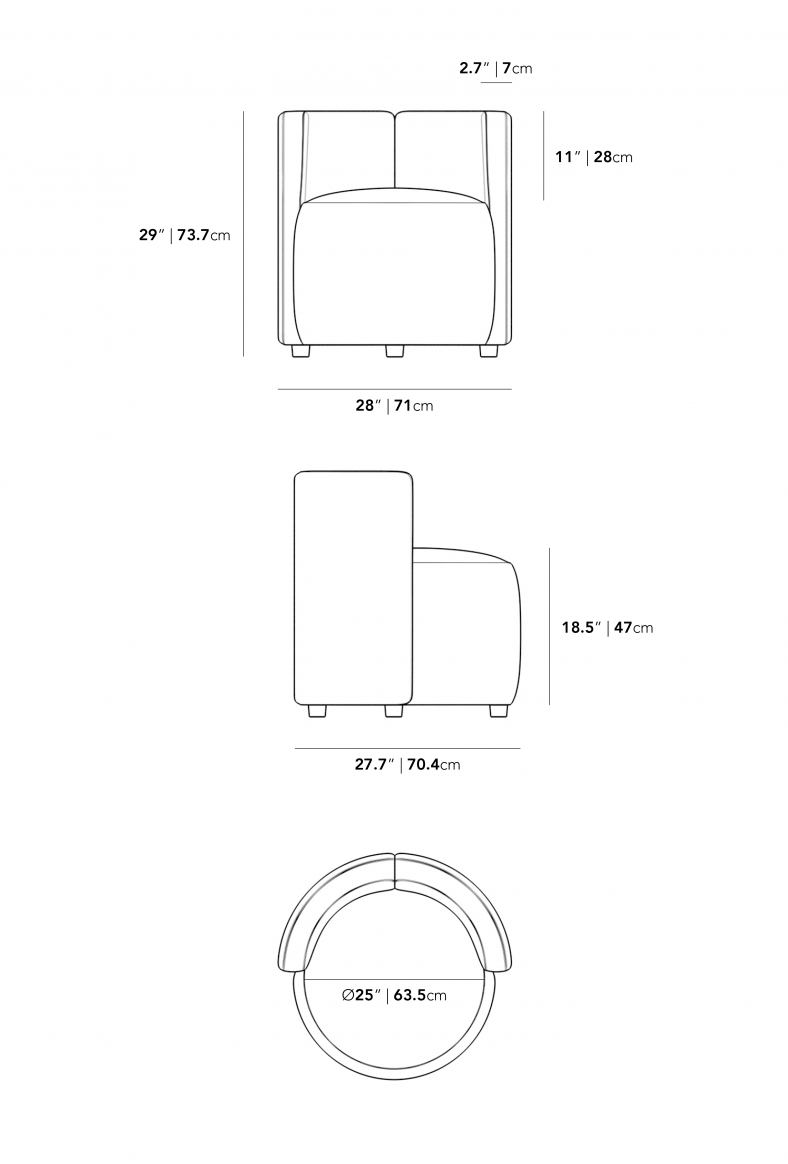Dimensions for Nova Lounge Chair