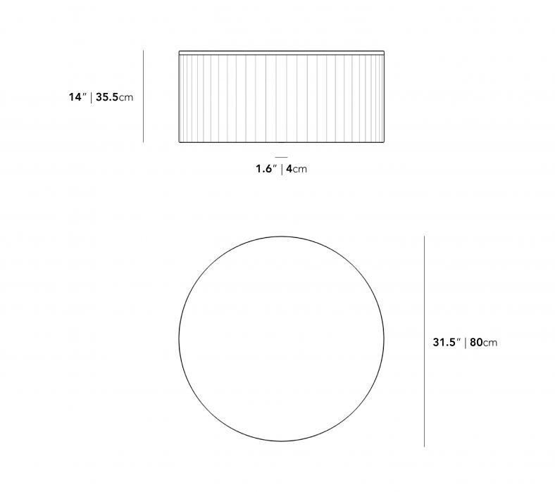 Dimensions for Nova Coffee Table