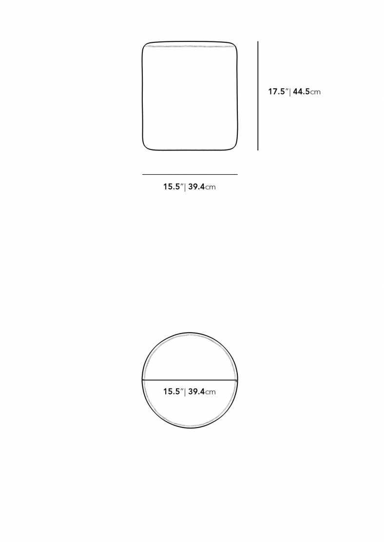 Dimensions for Nova Outdoor Pouf
