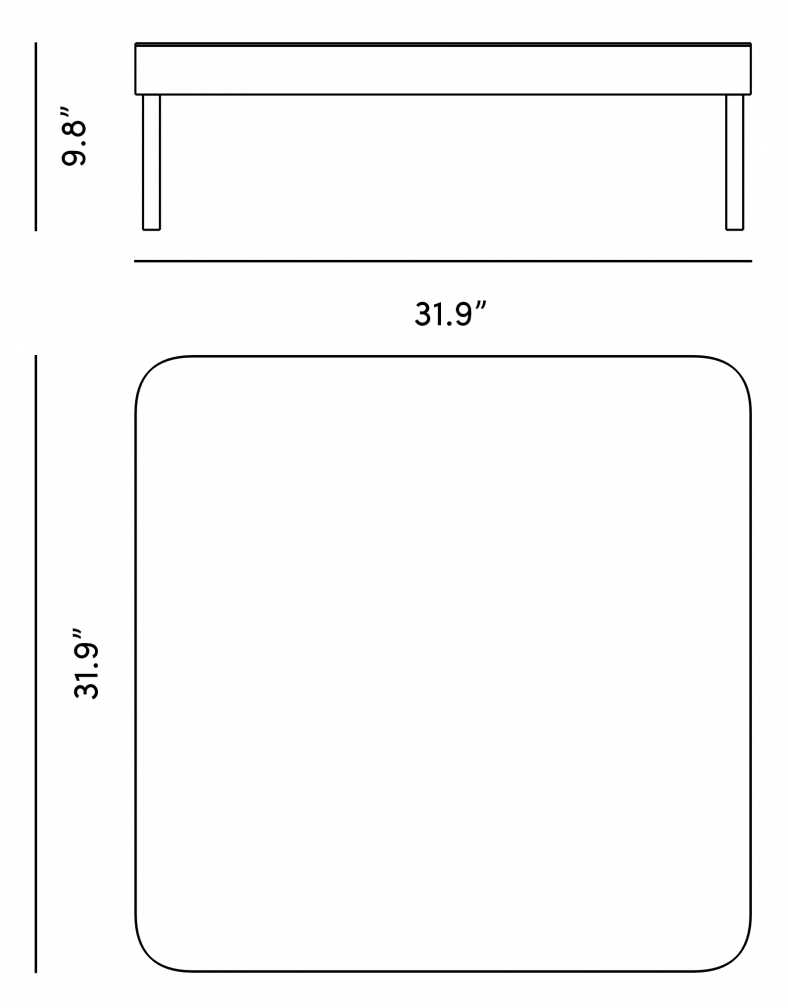 Dimensions for Olivia Outdoor Coffee Table