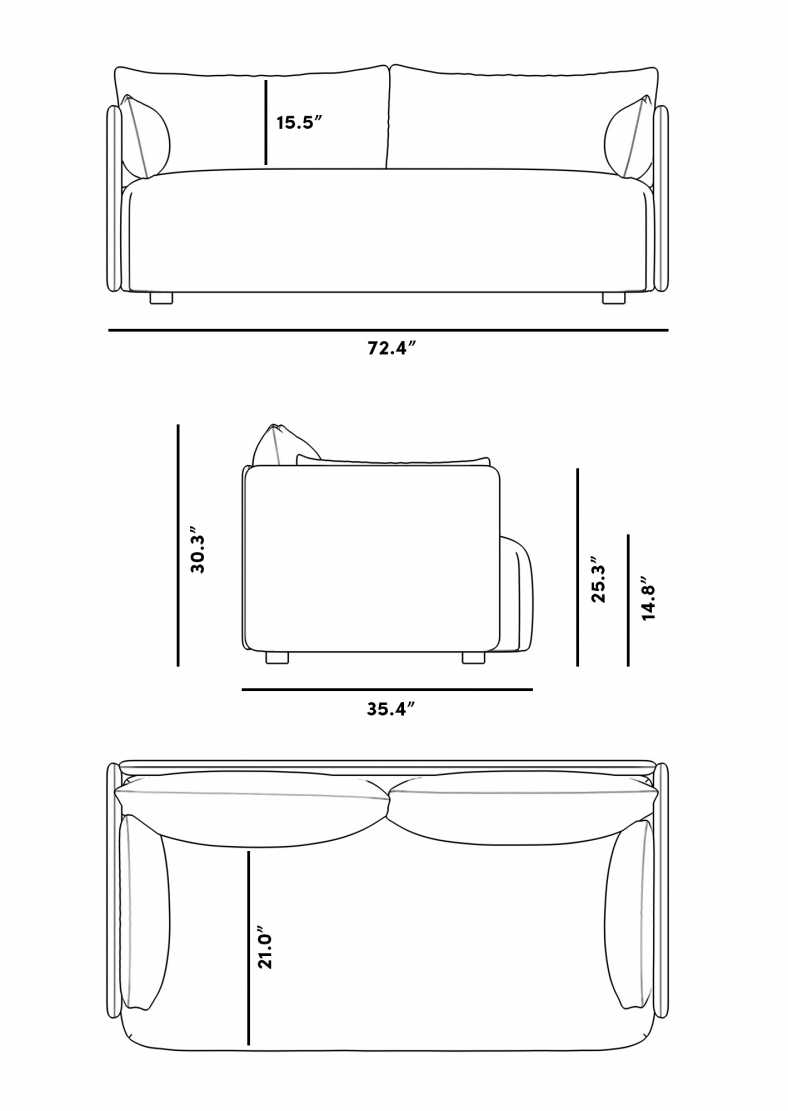 Dimensions for Olsen Loveseat