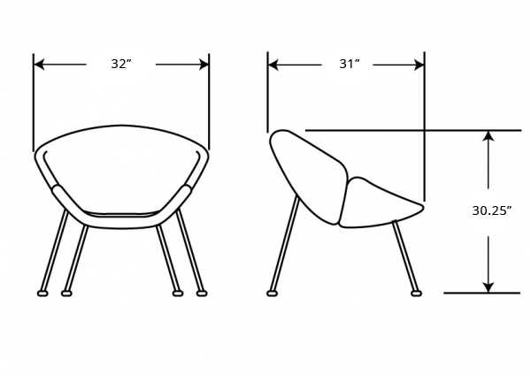 Dimensions for Slice Chair