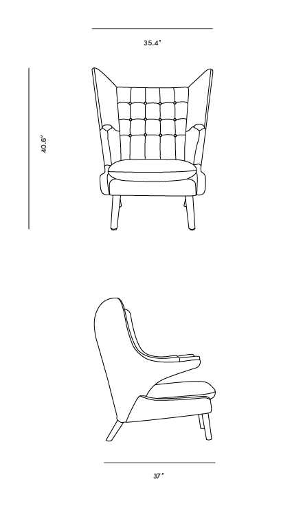 Dimensions for Papa Chair