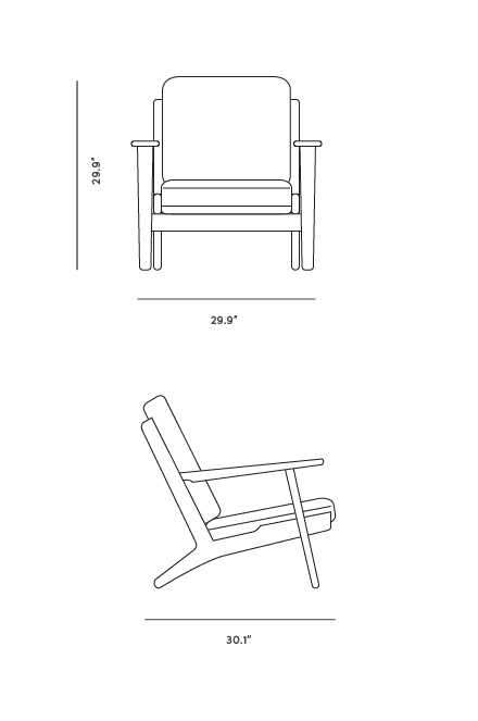 Dimensions for Plank Armchair