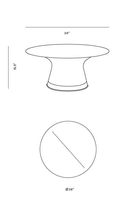 Dimensions for Warren Coffee Table