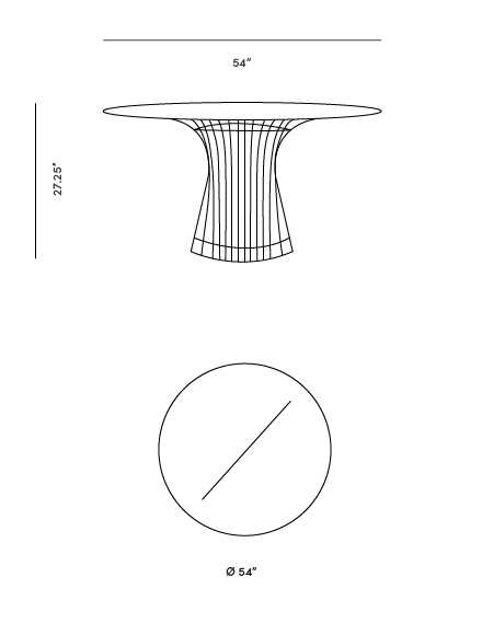 Dimensions for Warren Dining Table